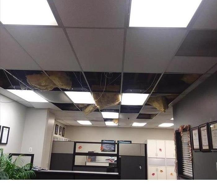 Office Water Damage Before