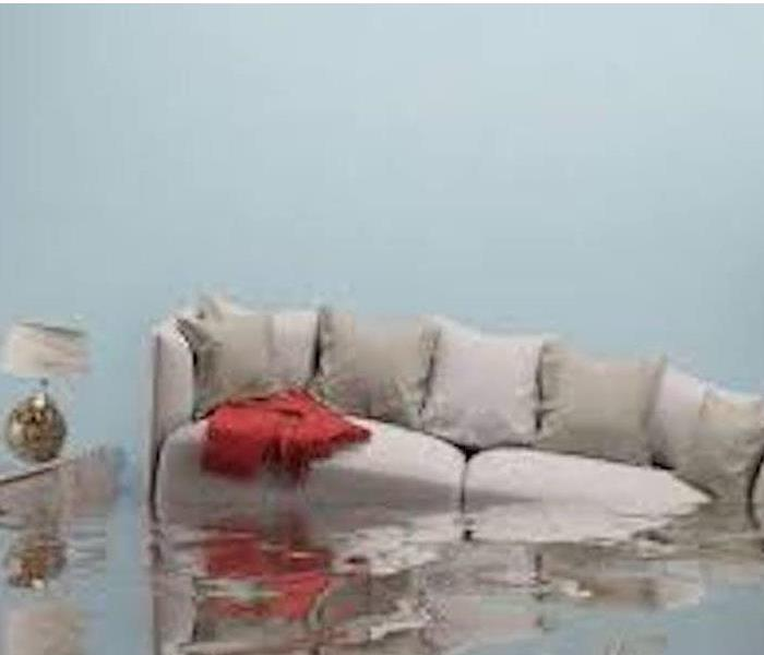 Couch Flooded By Water